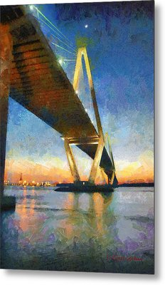Ravenel Bridge Metal Print