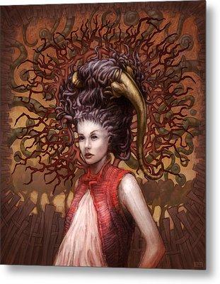 Ravenous Pregnancy In Color Metal Print by Ethan Harris