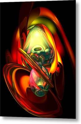 Raw Fury Abstract Metal Print by Alexander Butler