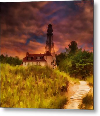 Rawley Point Lighthouse Metal Print by Joel Witmeyer