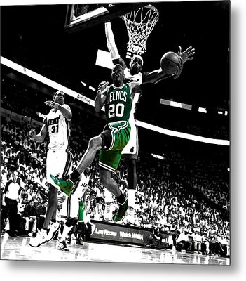 Ray Allen 2c Metal Print by Brian Reaves