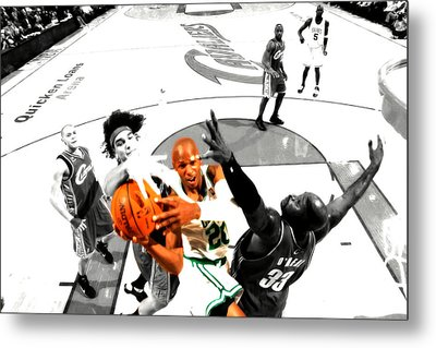 Ray Allen Metal Print by Brian Reaves