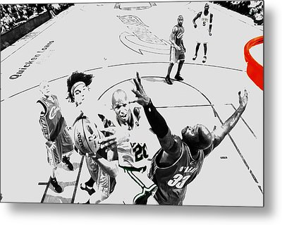 Ray Allen In Traffic Metal Print by Brian Reaves
