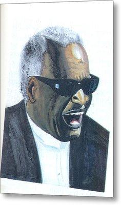 Ray Charles Metal Print by Emmanuel Baliyanga