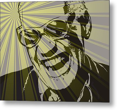 Ray Charles Poster Metal Print by Dan Sproul