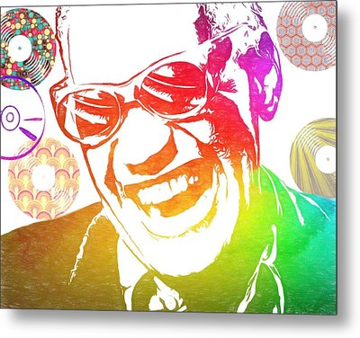 Ray Charles Retro Tribute Metal Print by Dan Sproul