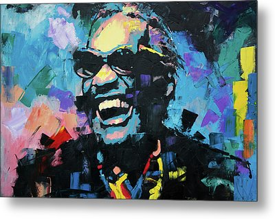 Metal Print featuring the painting Ray Charles by Richard Day