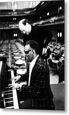 Ray Charles, With Conductorcomposer Metal Print by Everett