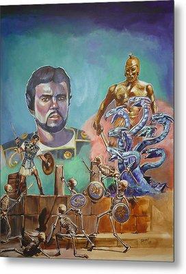 Ray Harryhausen Tribute Jason And The Argonauts Metal Print by Bryan Bustard