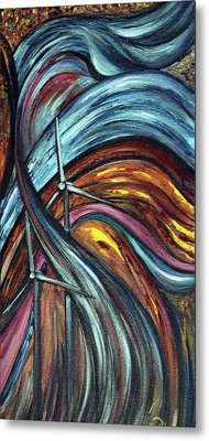Metal Print featuring the painting Ray Of Hope 2 by Harsh Malik