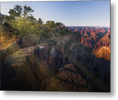 Rays Over The Canyon  Metal Print