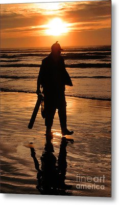 Razor Clam Hunter Metal Print
