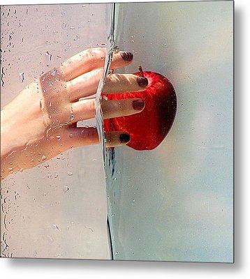Reach For The Apple Metal Print by Karen McKenzie McAdoo