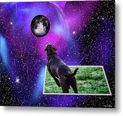 Reaching For The Moon Metal Print by Roger Wedegis