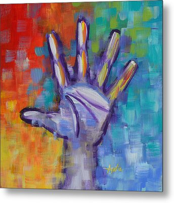 Reaching Out Metal Print by Agata Lindquist