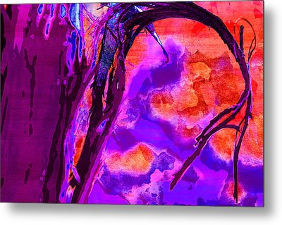 Reaching To Purple Clouds Metal Print