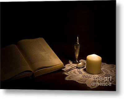 Reading Composition Metal Print by Levin Rodriguez