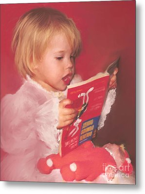 Reading To Her Baby Metal Print by McKenzie Leopold
