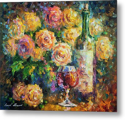 Ready For Her  Metal Print by Leonid Afremov