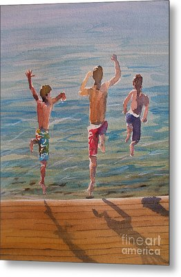 Metal Print featuring the painting Ready Set Go by Sandra Strohschein