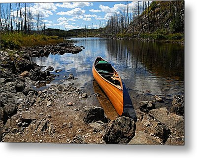 Ready To Paddle Metal Print by Larry Ricker