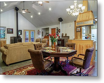Metal Print featuring the photograph Real Estate Dining Room And Living Room by James Eddy