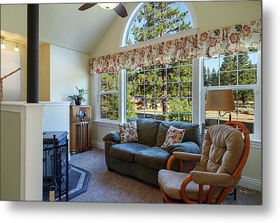 Metal Print featuring the photograph Real Estate Sitting Room by James Eddy