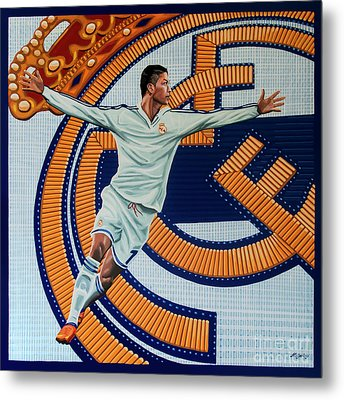 Real Madrid Painting Metal Print