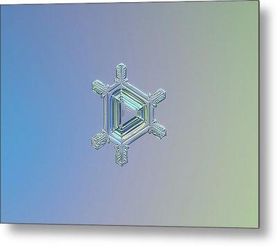 Real Snowflake Photo - Emerald Metal Print by Alexey Kljatov