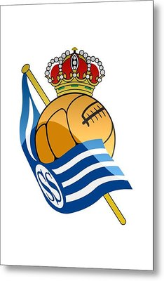 Real Sociedad De Futbol Sad Metal Print by David Linhart