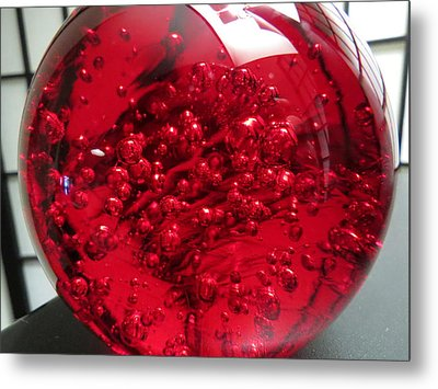 Really Red Metal Print