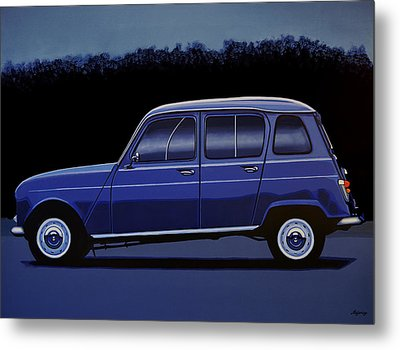 Renault 4 1961 Painting Metal Print by Paul Meijering