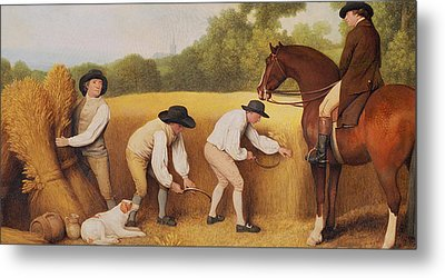 Reapers Metal Print by George Stubbs