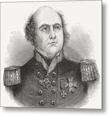 Rear-admiral Sir John Franklin, 1786 Metal Print by Vintage Design Pics