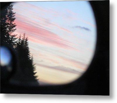Rear View Sunset Sky Metal Print by Pamela Patch