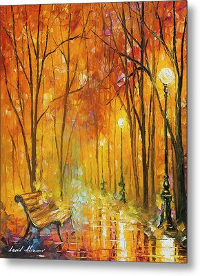 Reasons Of Autumn  Metal Print by Leonid Afremov