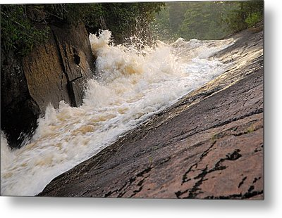 Rebecca Falls At Sunset Metal Print by Larry Ricker