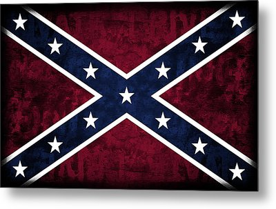 Rebel Flag Metal Print