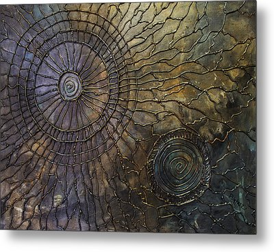 Metal Print featuring the painting Rebirth by Patricia Lintner