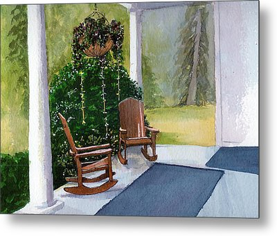 Metal Print featuring the painting Recap by Lynn Babineau