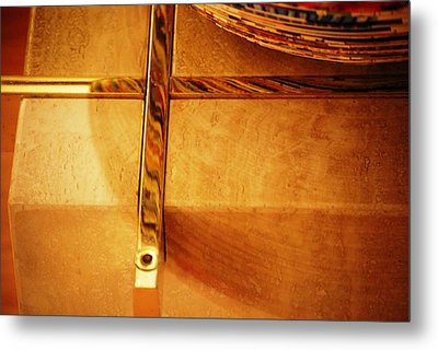 Recessed And Reflected Metal Print by Peter  McIntosh