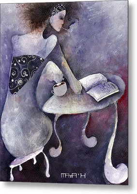 Metal Print featuring the painting Recipies Book by Maya Manolova
