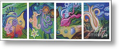 Reciprocal Liason Of The Sea Metal Print by Genevieve Esson