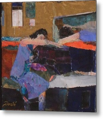 Reclining Metal Print by Dorate Muller