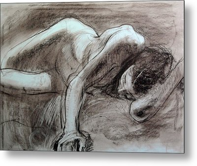 Reclining Female Metal Print