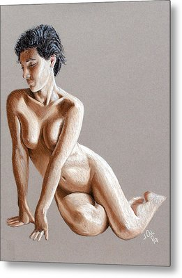Metal Print featuring the painting Reclining Figure by Joseph Ogle