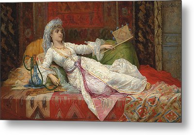 Reclining Turkish Woman Metal Print