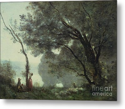 Recollections Of Mortefontaine Metal Print by Jean Baptiste Corot