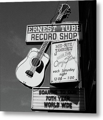 Record Shop- By Linda Woods Metal Print by Linda Woods