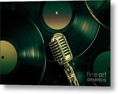 Recording Studio Art Metal Print